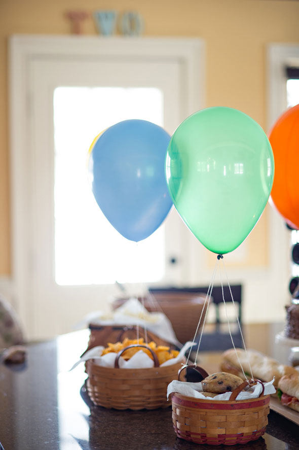 Helium Balloon snack basket
