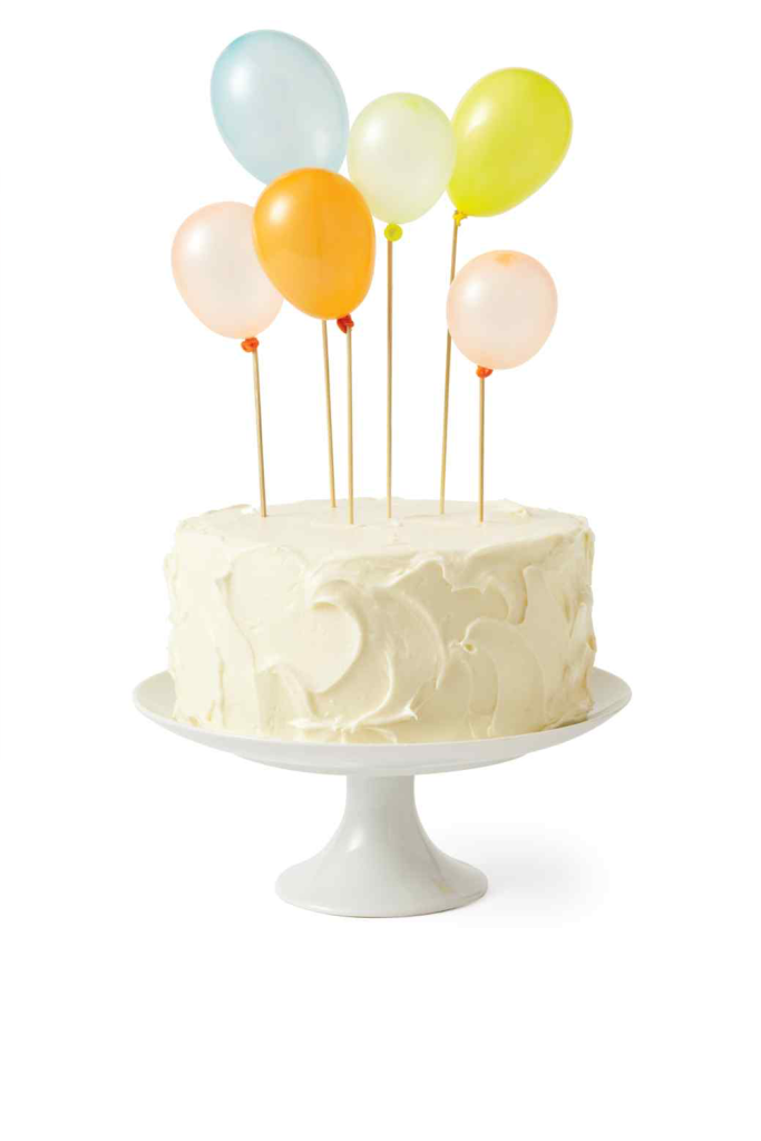 Martha Stewart Cake with Balloon Toppers