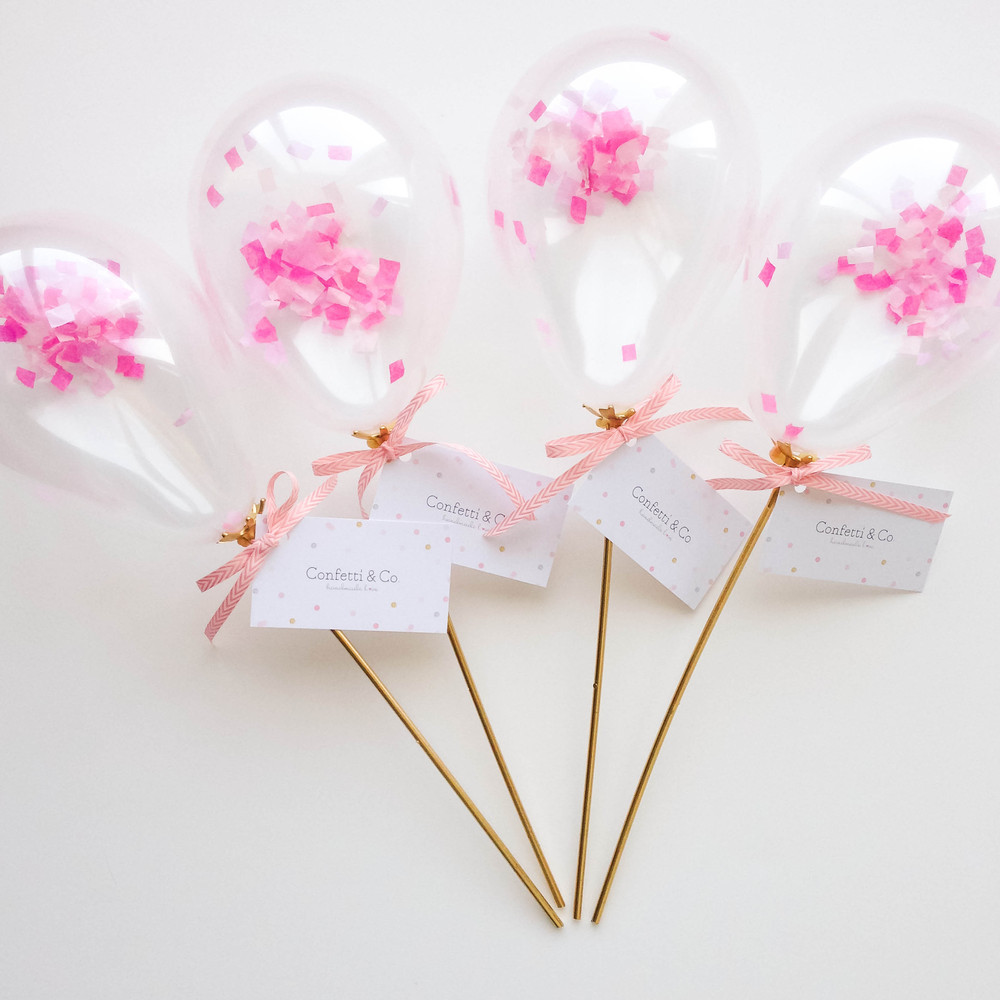 Balloon Confetti Invitation